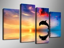 HD MODERN ABSTRACT HUGE WALL ART OIL PAINTING ON (NO frame) dolphin