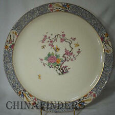 "LENOX china MING BIRD P16 black stamp Chop Plate/Round Platter 12 1/2"" with chip"