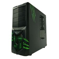 AvP Wolverine VERDE Midi Tower Gaming PC caso invertiti USB 3.0 LED VERDE