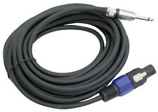 """New PPSJ50 50ft. 12 Gauge Professional Speaker Cable w/Connector to 1/4"""" & 1/4"""""""