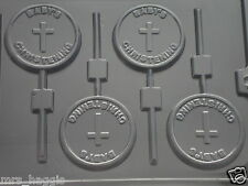 BABYS CHRISTENING CHOCOLATE LOLLIPOP LOLLY MOULD 4 ON 1 CHOCOLATE OR SOAP