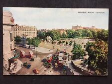 RP Vintage Postcard - London #MA8 - Marble Arch 1932 - Posted Belgium Stamp