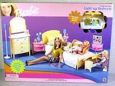 NIB BARBIE DOLL 1999 LIGHT UP BEDROOM PLAYSET FURNITURE