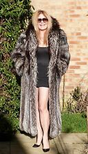 Silver Fox Fur Coat  Real Fur