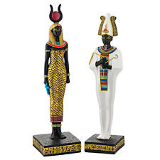Ancient Egyptian God Osiris Underworld & Goddess Hathor Beauty Gallery Statues