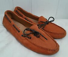 Cole Haan Men's Gunnison orange Driving Shoe Moc 10 D Suede Leather