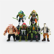 Neu 6pcs TMNT TURTLES Teenage Mutant Ninja Turtles PVC Figures Figuren Set IB