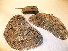 2 Large resin bases for disc bases. With 6 x 50mm bases