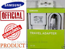 100%Original Samsung EP-TA13IWEUGIN 2Amp USB Wall Charger + Micro USB Data Cable