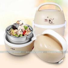 1.3L Mini Electric Lunch Heater Rice Cooker Steamer Stainless Steel UK PLUG