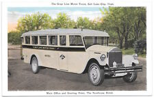 Postcard Gray Line Motor Tours Bus in Salt Lake City, Utah~105445