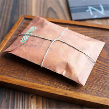 10pcs Vintage Kraft Brown Paper Envelopes (16x11cm) Birthday Wedding Card Gift
