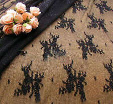 """French Stretch Floral Bridal Lace Fabric 55"""" Wide for Wedding Dress 1/2 Yard"""