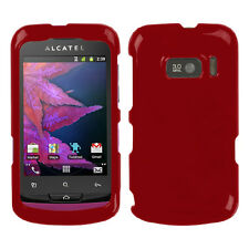 For Alcatel 918 (One Touch) Solid Red Phone Protector Case Cover