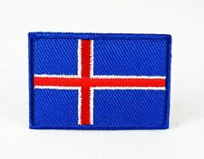 ICELAND NATIONAL COUNTRY FLAG MEDIUM IRON/SEW ON PATCH APPLIQUE BADGE