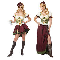 Sexy Bavarian Country Oktoberfest German Beer Maid Wench Fancy Dress Costume