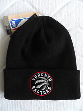 TORONTO RAPTORS adidas BLACK Cuff Knitted BEANIE TUQUE Hat NBA Toque Canada