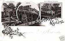 4768/ Litho AK, Gruss vom Kynast, Schlesien, 1895