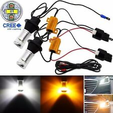 No Hyper Flash 7440 Switchback 20W CREE LED Front Turn Signal Light or DRL Bulbs