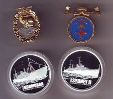 2008 HMAS Sydney II Kormoran Silver Coin Medallion Set 1oz Silver Proof $1 etc