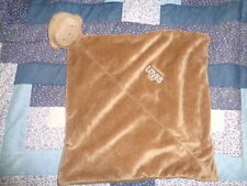 Blanket Monkey Mommy Loves me brown Rattle Baby Security Lovey Carters Plush