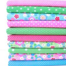 REMNANTS - 10 FAT QUARTERS BRIGHT & FUNKY FLORAL BUNDLE POLY COTTON FABRIC *