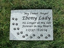 "Personalized pet memorial head stone grave marker- 2"" granite"
