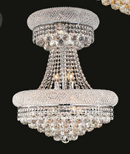 Palace Limited Edition Bangle 14 Lights Dining Crystal Chandelier Light - Chrome