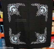 CELTIC MOON & PENTACLE ALTAR CLOTH - 100cm - Wicca Pagan Witch Goth GODDESS