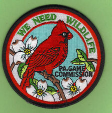 """Pa Pennsylvania Game Commission PGC 4"""" We Need Wildlife Male Cardinal Bird Patch"""
