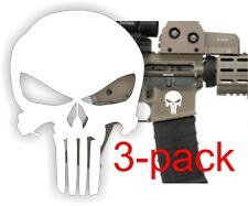 (3) AR15 Lower Decals   Punisher AR-15 Gun MAG 5.56 Magazine Stickers Black Ops