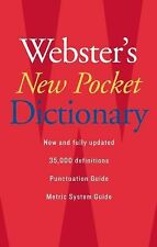 Webster's New Pocket Dictionary (2007, Paperback)