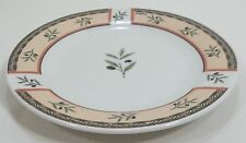 Oneida Salad Luncheon Plate Tuscan Olive Off-White Olive Design Stoneware 7""