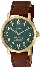 Timex Mens The Waterbury Quartz Stainless Steel and Leather Dress Watch, Model: