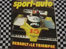 revue SPORT AUTO 1979 G.P DIJON / JABOUILLE / FANGIO / FERRARI 512 / n° 211
