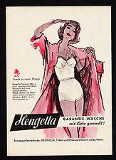 3w1849/ Alte Reklame von 1960 - HENGELLA - Trikot- u. Strickwarenfabrik - Aalen