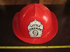 Dress Up Red Fire Fighter Man Helmet Plastic Adjustable Play Toy Little No. 9