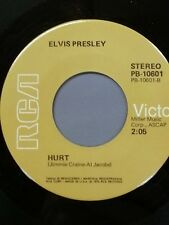 "ELVIS PRESLEY 45 RPM ""Hurt"" & ""For the Heart"" VG+ condition"