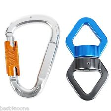 Rock Climbing Kit Rotational Rope Swivel Connector with 1 Mountaineering Buckle