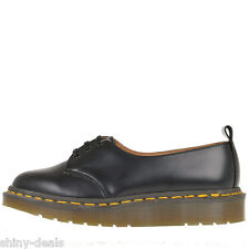 DR. MARTENS AIR WAIR New Woman Black Leather CADENZA Oxfords Lace Up Shoes Siz 6