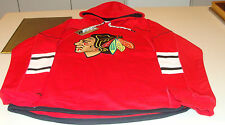 NHL Hockey Reebok Edge Team Jersey Hoodie Hoody Sweatshirt Chicago Blackhawks S