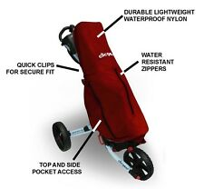 Clicgear Full Length Golf Bag Rain Cover for Push Pull Golf Carts 3.0 3.5 Red