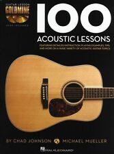 Guitar Lesson Goldmine 100 Acoustic Lessons Learn to Play TAB Music Book & CD