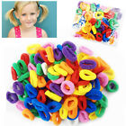 Fancy Colour Hair Bands Mini Baby Ponytail Elastic Stretchy Bobbles Pack of 50