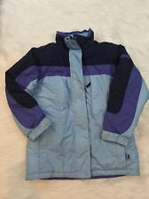 Columbia Girls coat 7 8 omnishield Jacket Coat double sided blue black