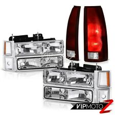 94 95 96 97 98 Chevy Silverado Tail Lamps Euro Clear Headlamps Signal Parking