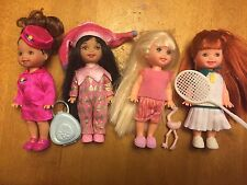 Mattel Kelly Doll Lot Of 4 EUC Pajama Fun, Lil Flyer, Tennis, Jester