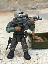 Green Heavy Assault  Army Special Forces Machine Gunner Minifigure (#5)