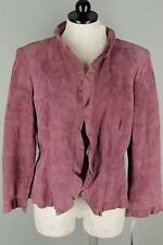 NWT Anne Klein Mulberry Purple Suede Vienna Jacket Coat 12 $395 Retail