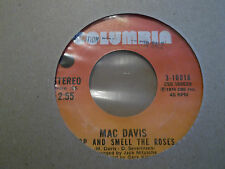 "MAC DAVIS "" STOP AND SMELL THE ROSES "" 7"" SINGLE PROMO COLUMBIA EXCELLENT 1974"